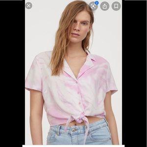 H&M Tie Hem Resort Shirt